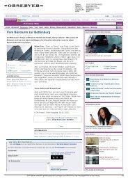 Bericht diepresse.com 17.01.2012 - Harry's Home Hotels