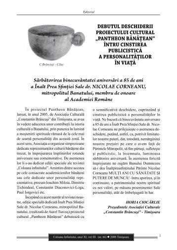 Revista Coloana Infinitului nr. 66 - Brancusi