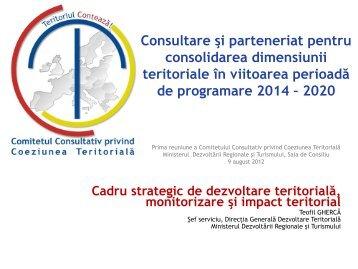i impact teritorial - Ministerul Dezvoltarii Regionale si Administratiei ...