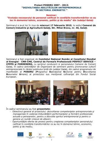 seminar Galati februarie 2010 - Cnr -cme