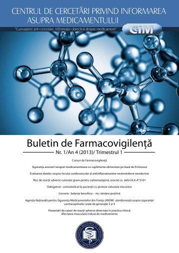 Buletin de Farmacovigilenţă - Colegiul Medicilor din Bucuresti