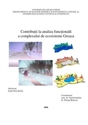Contributii la analiza functionala a complexului de ... - CESEC
