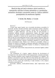 Baza de date privind evaluarea valorii nutritive a nutreturilor ... - IBNA