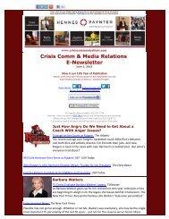 Crisis Comm & Media Relations E-Newsletter