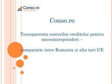 Analiza comparativa privind transparenta costurilor ... - IMMromania.ro