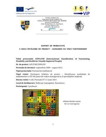 Raport activitate Danemarca - Liceul Special pentru Deficienţi de ...