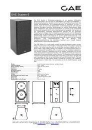 GAE System 6 - Ultra-Schall EventService