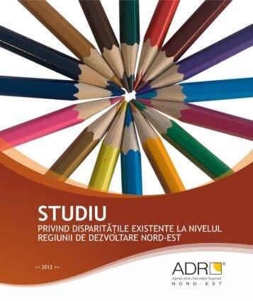 Studiu privind disparitatile existente la nivelul Regiunii de dezvoltare ...