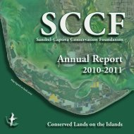 SCCF Annual Report - Sanibel-Captiva Conservation Foundation