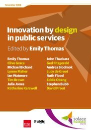 Innovation by design in public services - Society of Local Authority ...