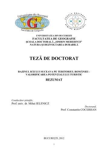 Rezumat teza Cocerhan - 38pag.pdf - Universitatea din București