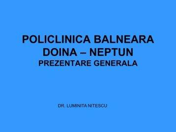 POLICLINICA BALNEARA DOINA - NEPTUN - Turismul de Sanatate