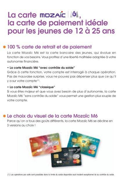 Guide carte Mozaîc-M6 - Crédit Agricole Mutuel Pyrénées Gascogne