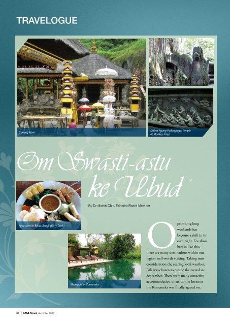 Om Swasti-astu ke Ubud - SMA News
