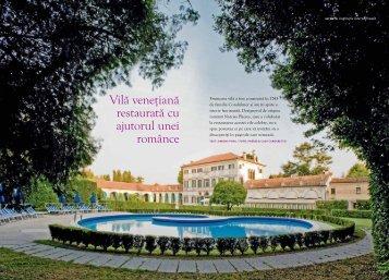 Vilă veneţiană restaurată cu ajutorul unei românce