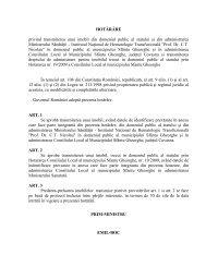 HOTĂRÂRE privind transmiterea unui imobil din domeniul public al ...