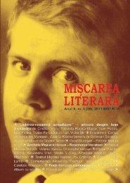 Nr. 3 / 2011 - Miscarea Literara