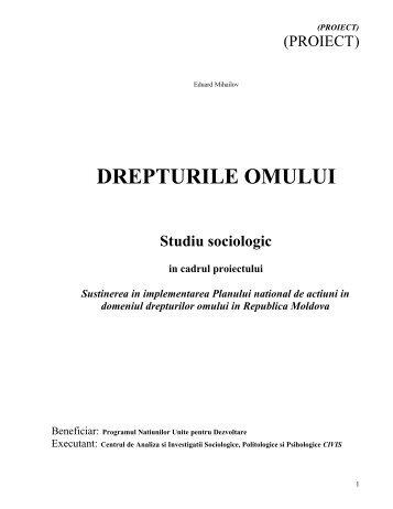 DREPTURILE OMULUI - UNDP Moldova