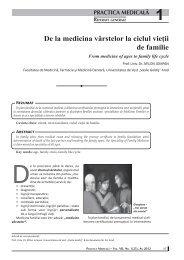 De la medicina vârstelor la ciclul vieţii de familie - medica.ro
