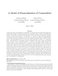 A Model of Financialization of Commodities