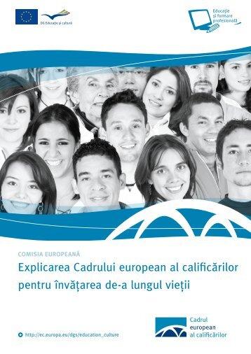 Explicarea Cadrului european al calificărilor pentru învăţarea de-a ...