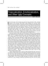Financialization, Emotionalization, and Other Ugly Concepts - Sarai