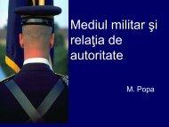 Conducerea in mediul militar