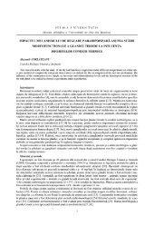 impactul reglării parahipofizare asupra stării morfofuncţionale
