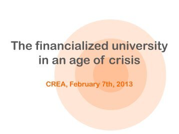 The financialized university in an age of crisis - Kritische Studenten ...