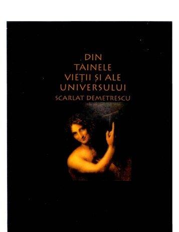 Scarlat Demetrescu – Din tainele vietii si ale universului