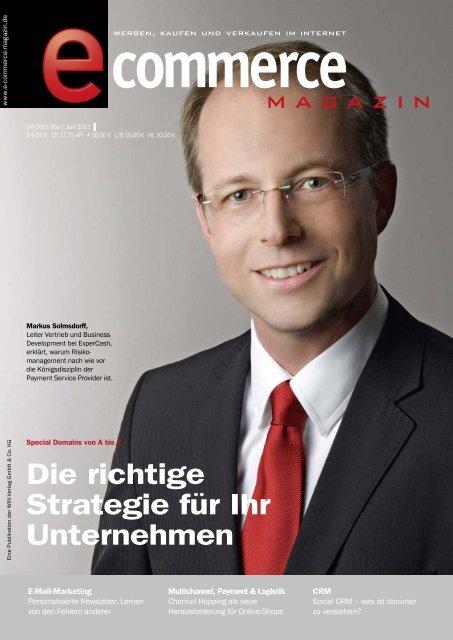 Die richtige Strategie für Ihr Unternehmen - E-Commerce Magazin