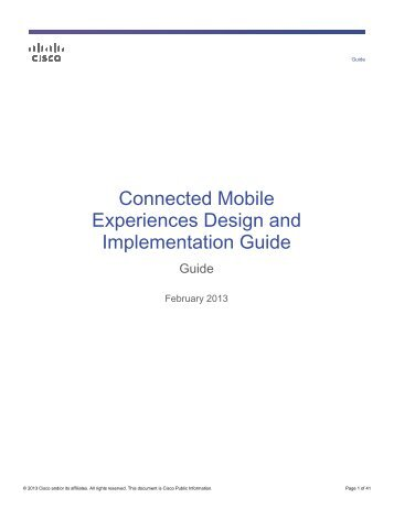 Connected Mobile Experiences Design and Implementation Guide