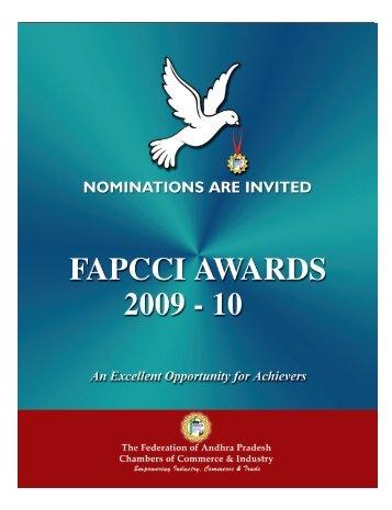 fapcci awards – 2009-10