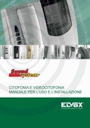 citofonia e videocitofonia manuale per l'uso e l'installazione - Elvox