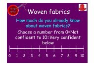 Fabric Construction - Woven