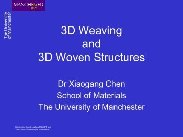 3D Weaving and 3D Woven Structures - TexEng Software Ltd