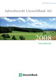 Umweltbericht 2008 (pdf) - UmweltBank