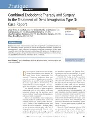 Combined Endodontic Therapy and Surgery in the Treatment of ...