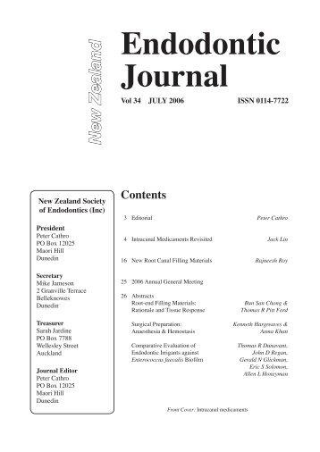 Endodontic Journal - New Zealand Society of Endodontics