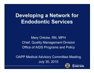 D l i N t k f Developing a Network for Endodontic Services