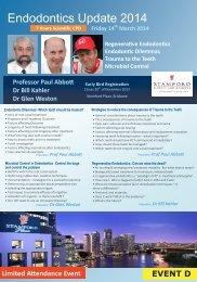 Endodontics Update 2014 - Queensland Dental Group