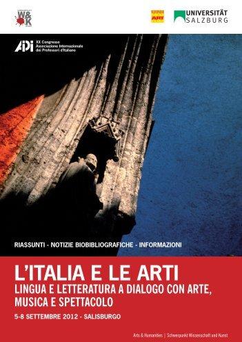 L'ITALIA E LE ARTI