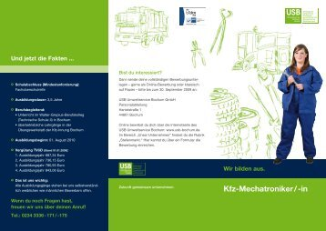 Kfz-Mechatroniker / -in - USB