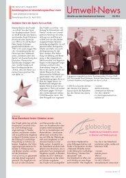 Umwelt-News 1/2011