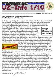 UZ-Info 2010 - Umweltzentrum Schwäbisch Hall