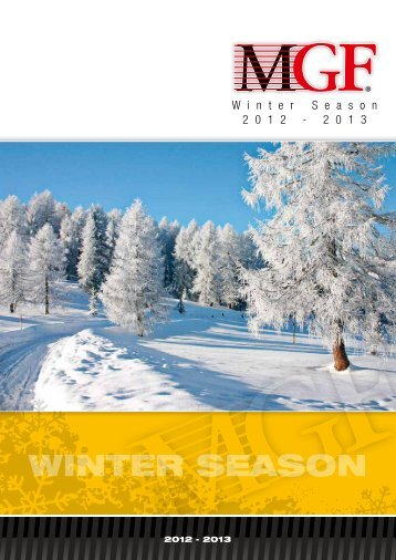 Catalogo MGF WINTER 2012-13 - FIABA Srl