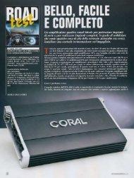 coral xta 408 amplificatore quattro canali con ... - Coral Electronic