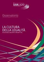 la cultura della legalità - Ufficio Scolastico Regionale per il Lazio - Miur