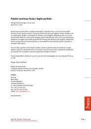 Paletto luminoso Scala | Taglio perfetto - Hess AG