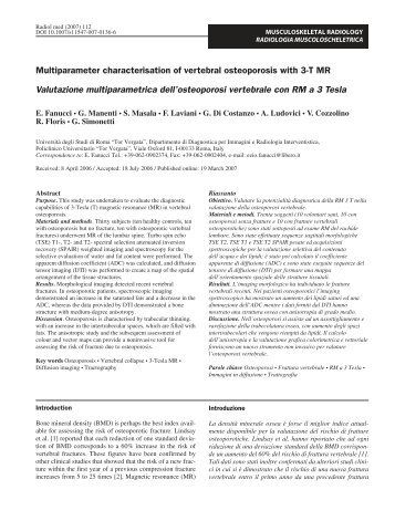 Multiparameter characterisation of vertebral osteoporosis with 3-T ...